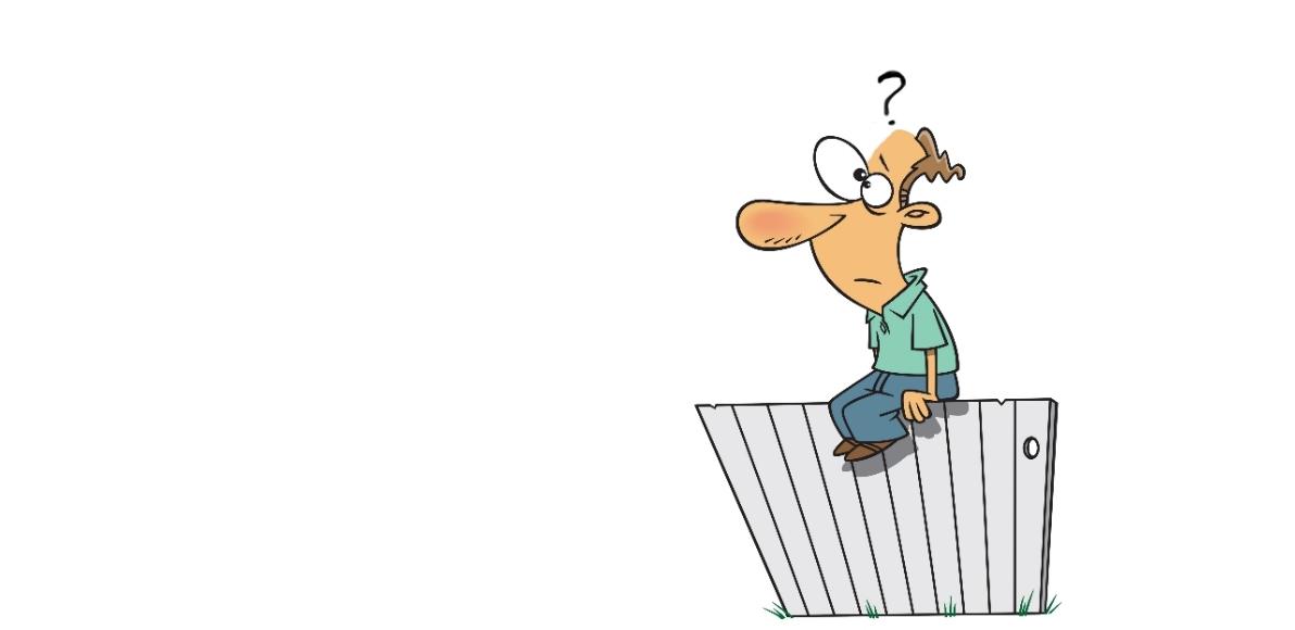 Change Post image - man sitting on fence